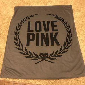 Victoria's Secret LOVE PINK Grey Black Throw